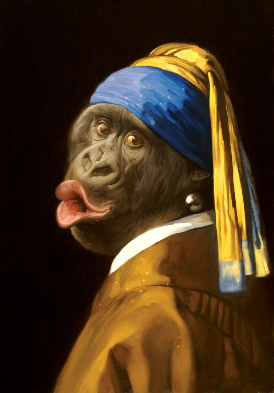 Gorilla With a Pearl Earring,  Mad Magazine
