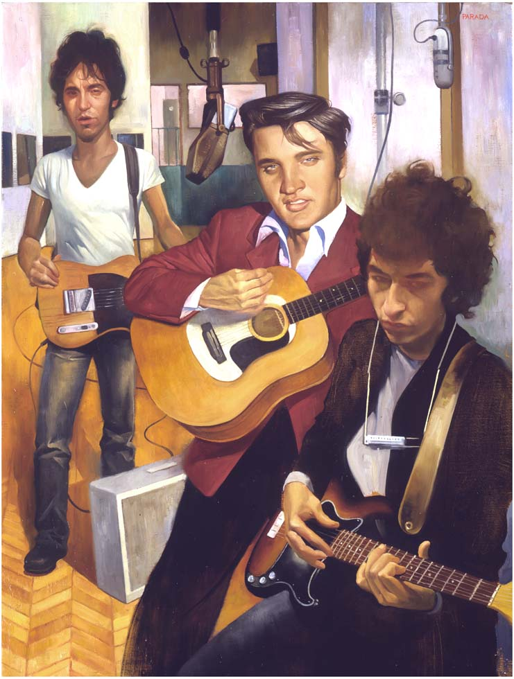 Elvis, Dylan and Springsteen,  Rolling Stone Magazine